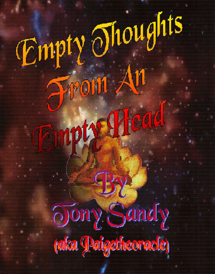 Picture of Empty Thoughts From An Empty Head by Tony Sandy (Paperback)